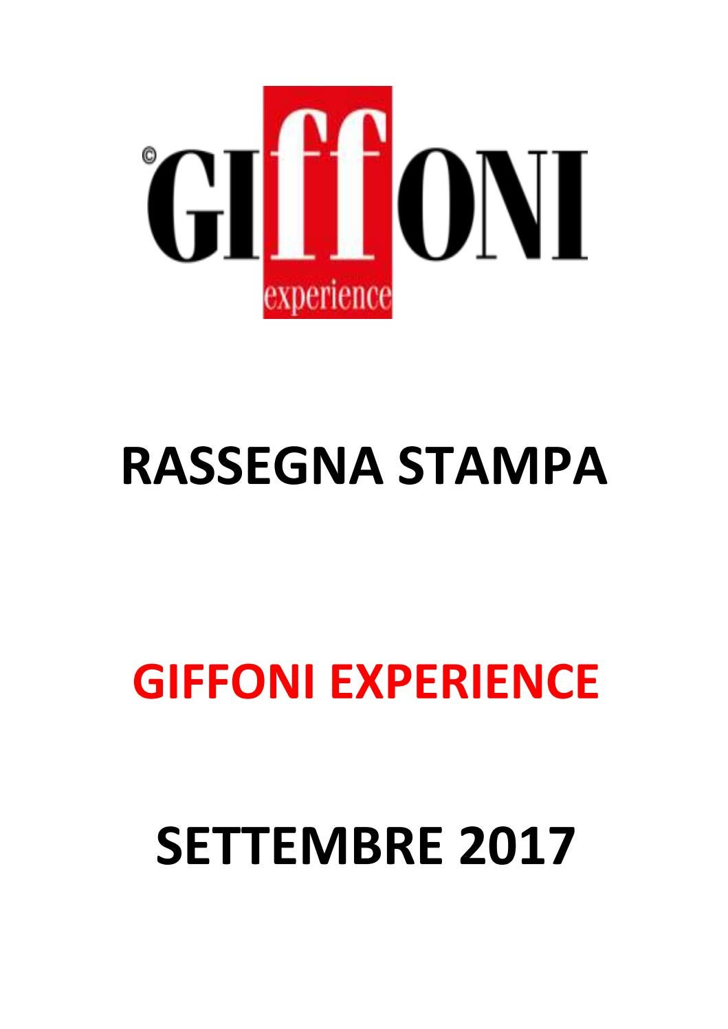 new concept bac59 5c691 Rassegna Stampa - Giffoni Experience - Settembre 2017 by Giffoni Experience  - issuu