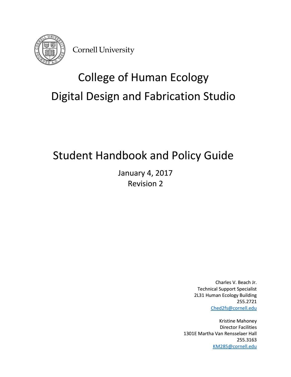 47fbe85974d59c Student handbook D2FS by College of Human Ecology - issuu