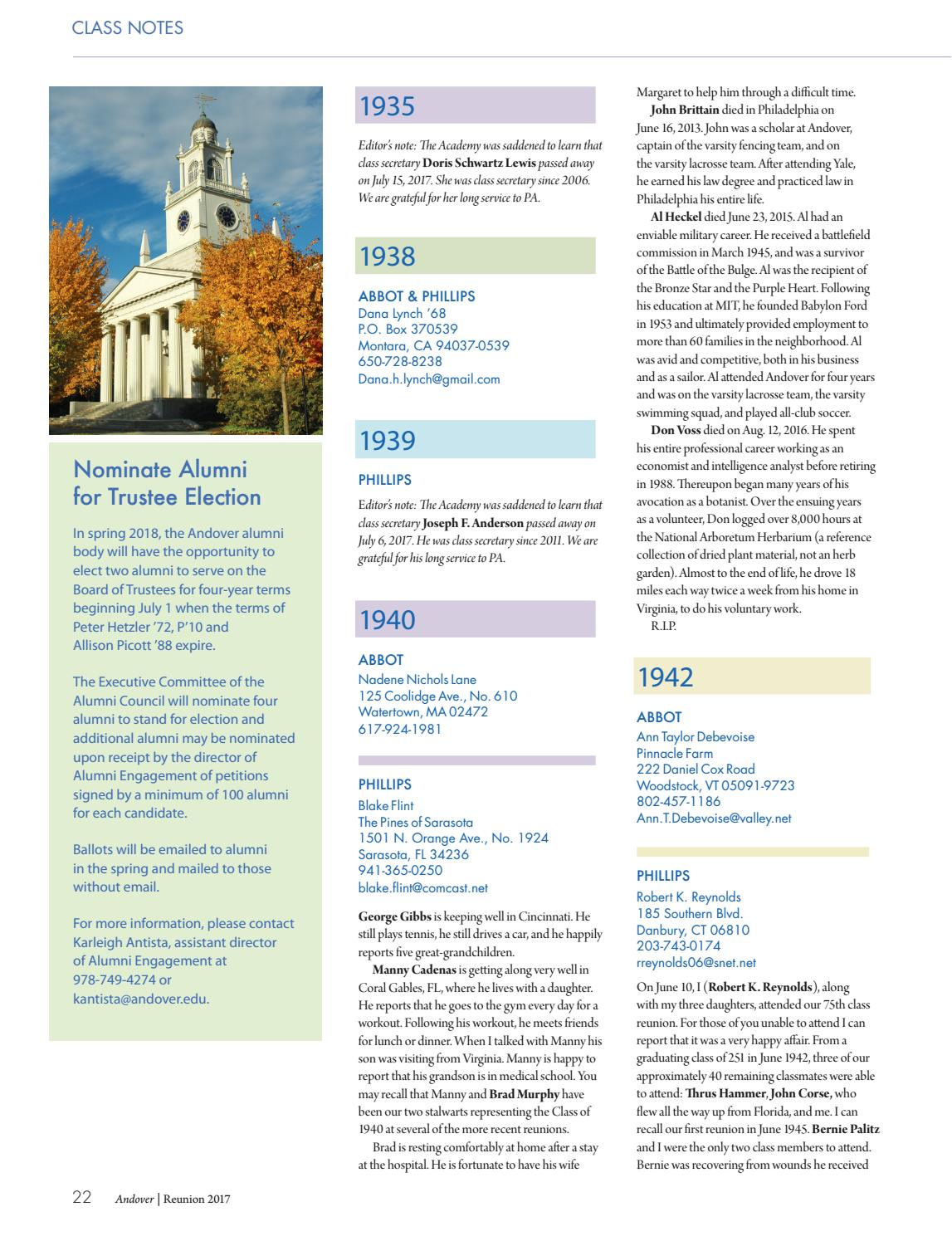 Reunion 2017 Class Notes by Phillips Academy - issuu 12af054db5264