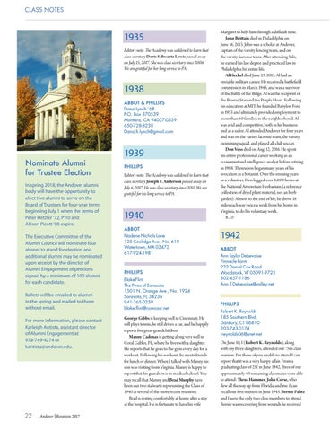 Reunion 2017 Class Notes By Phillips Academy Issuu