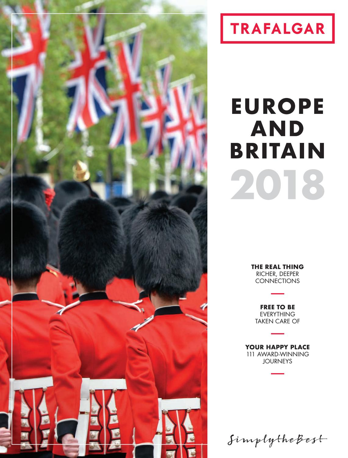 on sale 0f4b7 740bc Europe and Britain 2018 Canada by Trafalgar - issuu