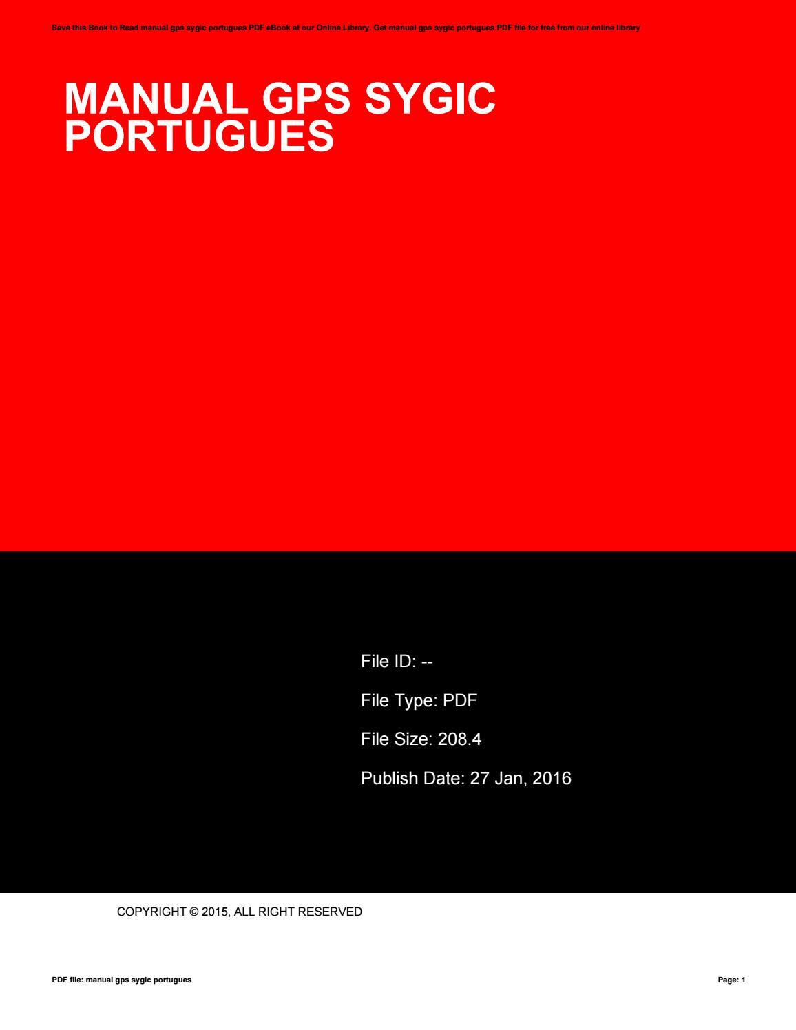Manual gps sygic portugues by rolas23telu - issuu