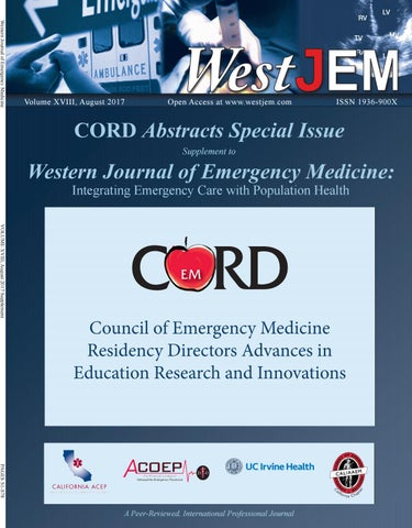 Volume 18 Issue 5 Supplement: CORD Advances in Education