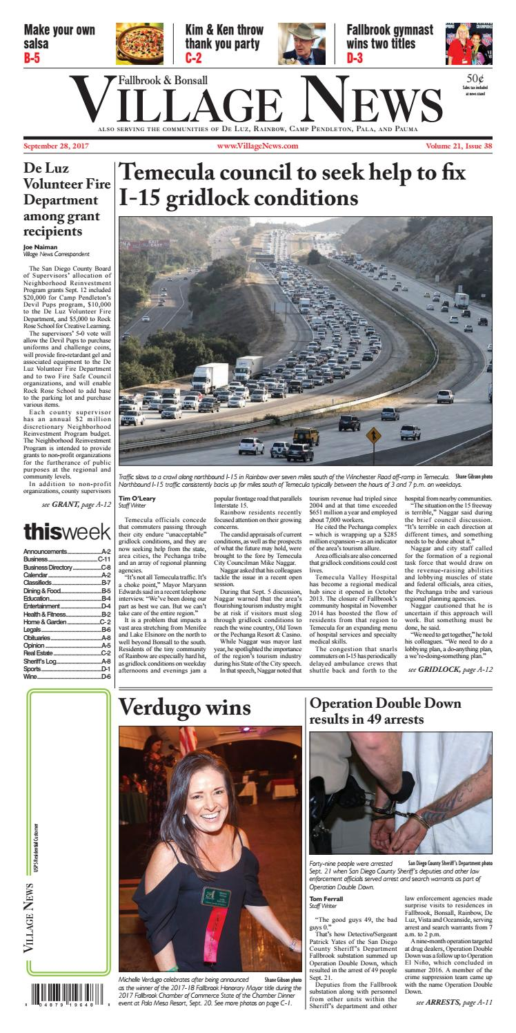 dab910b362 Fallbrook Village News by Village News