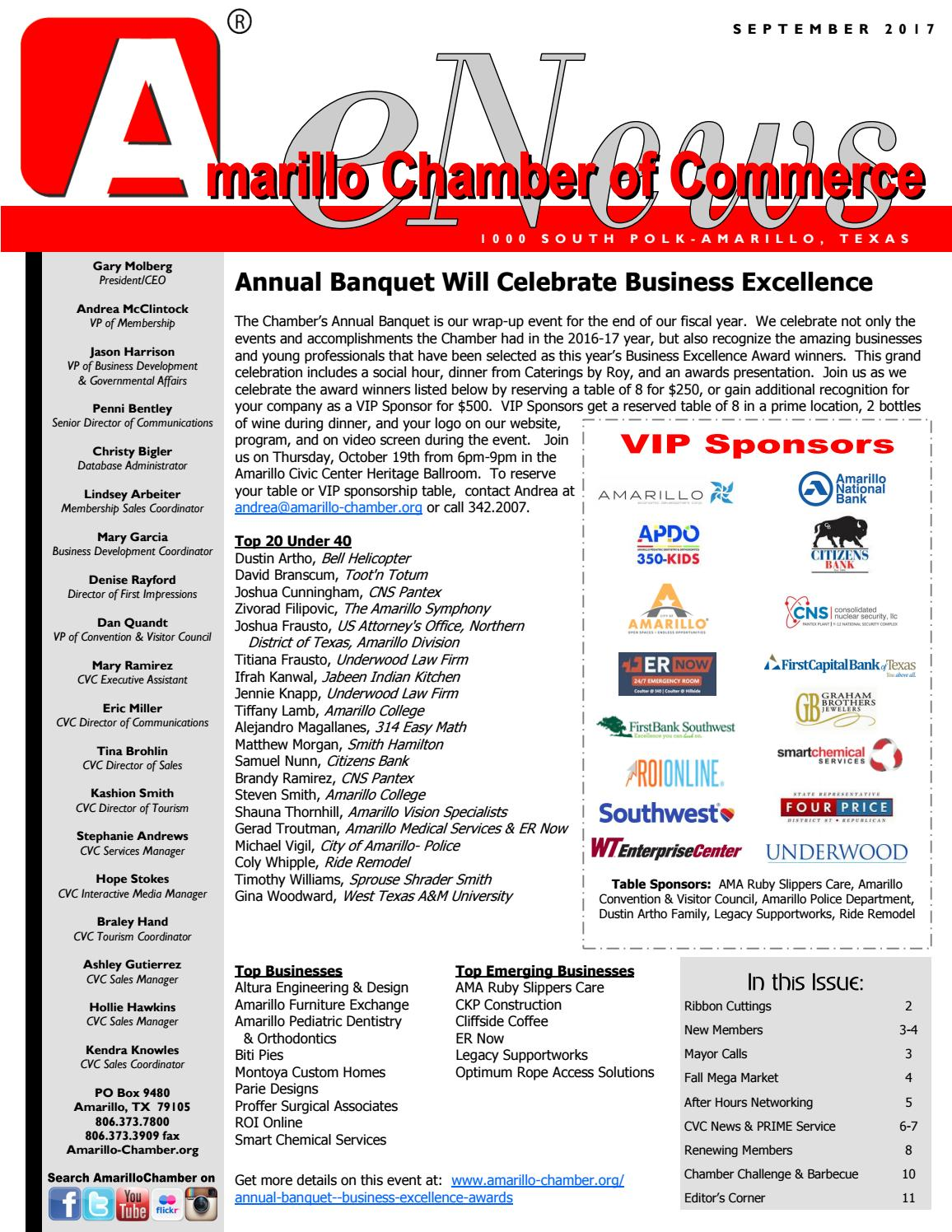 Sept 2017 Enews By Amarillo Chamber Of Commerce   Issuu