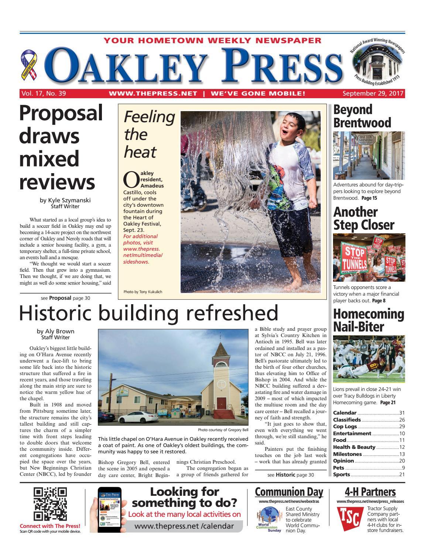 Oakley Press 092917 By Brentwood Publishing