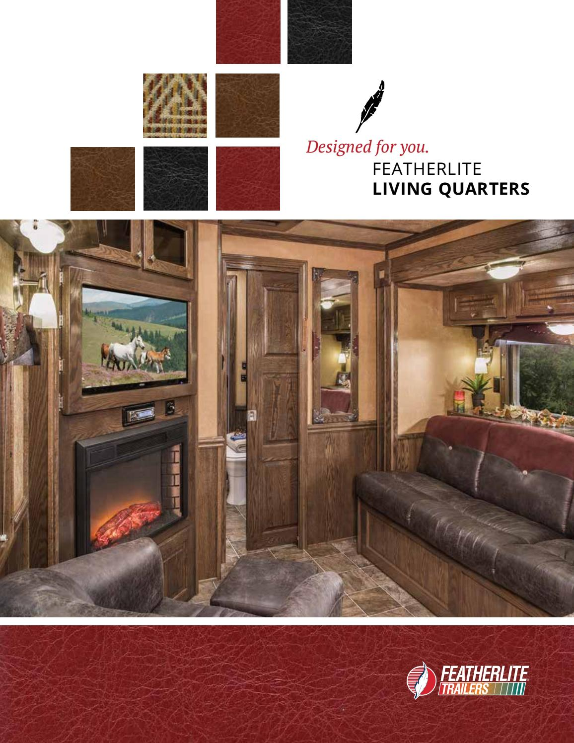 2017 Featherlite Living Quarters Horse Trailers By