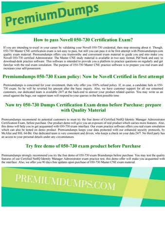 050-730 Novell Certified NetIQ Identity Manager Administrator Exam ...