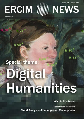 ERCIM News 111 Digital Humaities by Peter Kunz - issuu