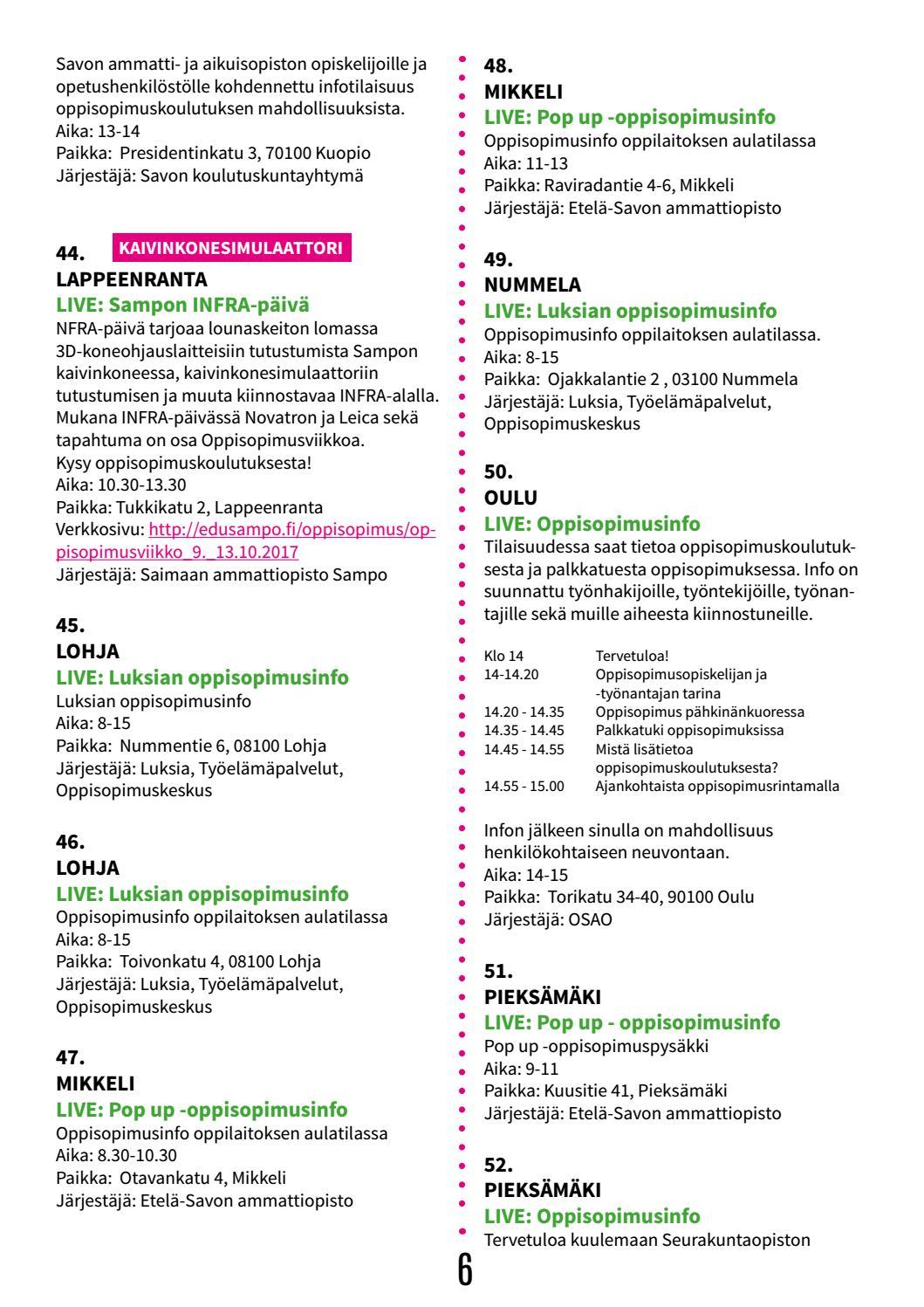 Oppisopimus Kuopio