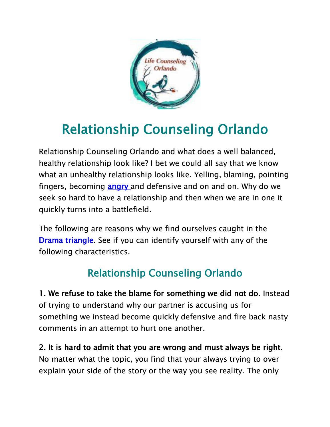 Relationship counseling orlando by sally high issuu solutioingenieria Image collections