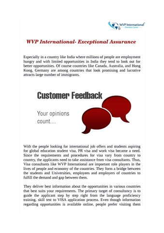 Wvp International Exceptional Assurance By Wvp International
