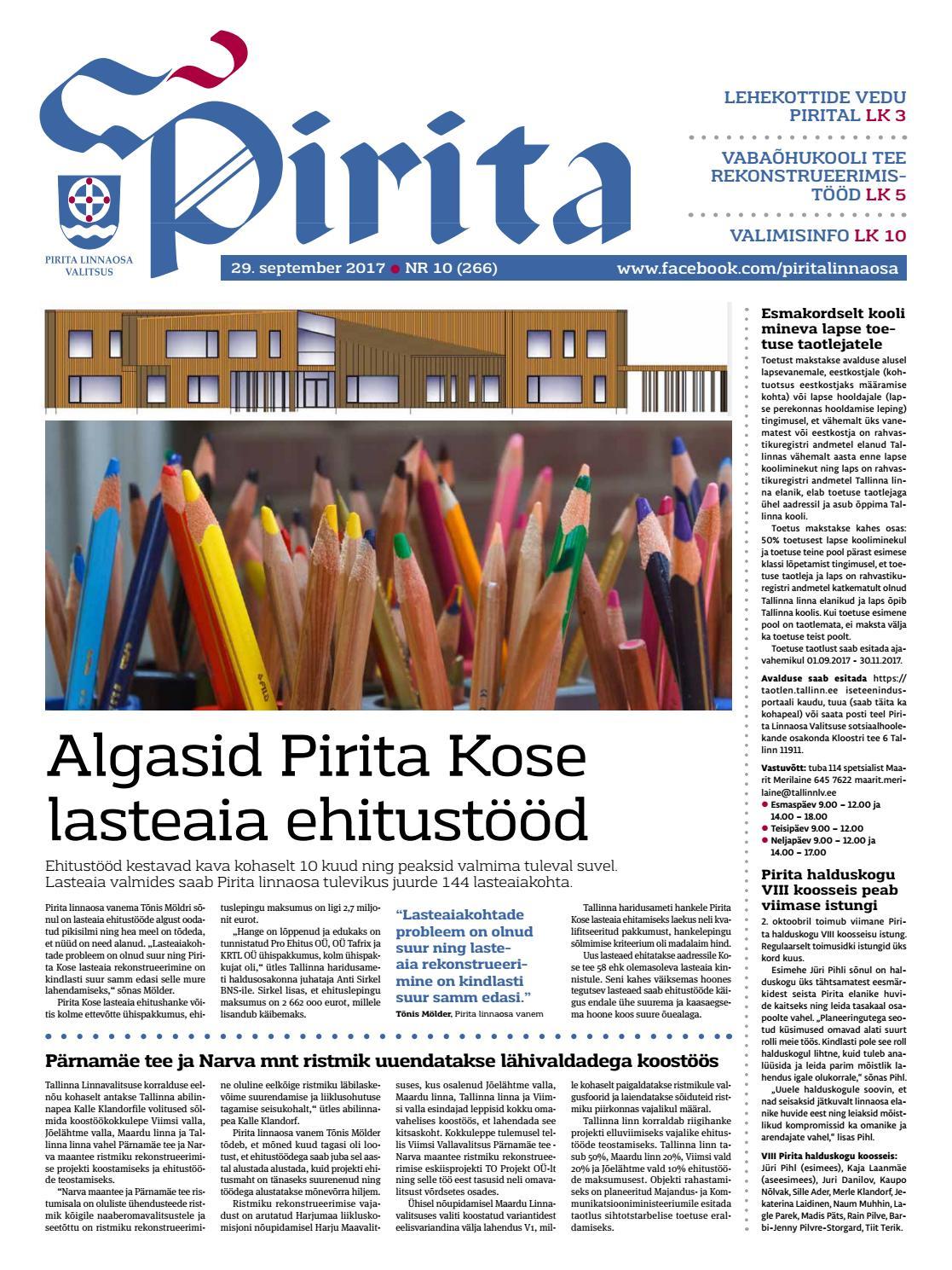 6c6b779df3a Pirita ajaleht 29. september by Piritalinnaosavalitsus - issuu