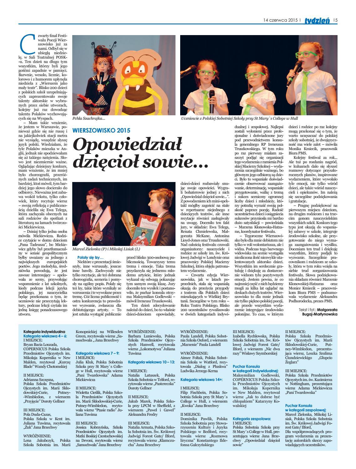 Pol151206 Wierszowisko 2015 Final Opowiedzial Dzieciol Sowie