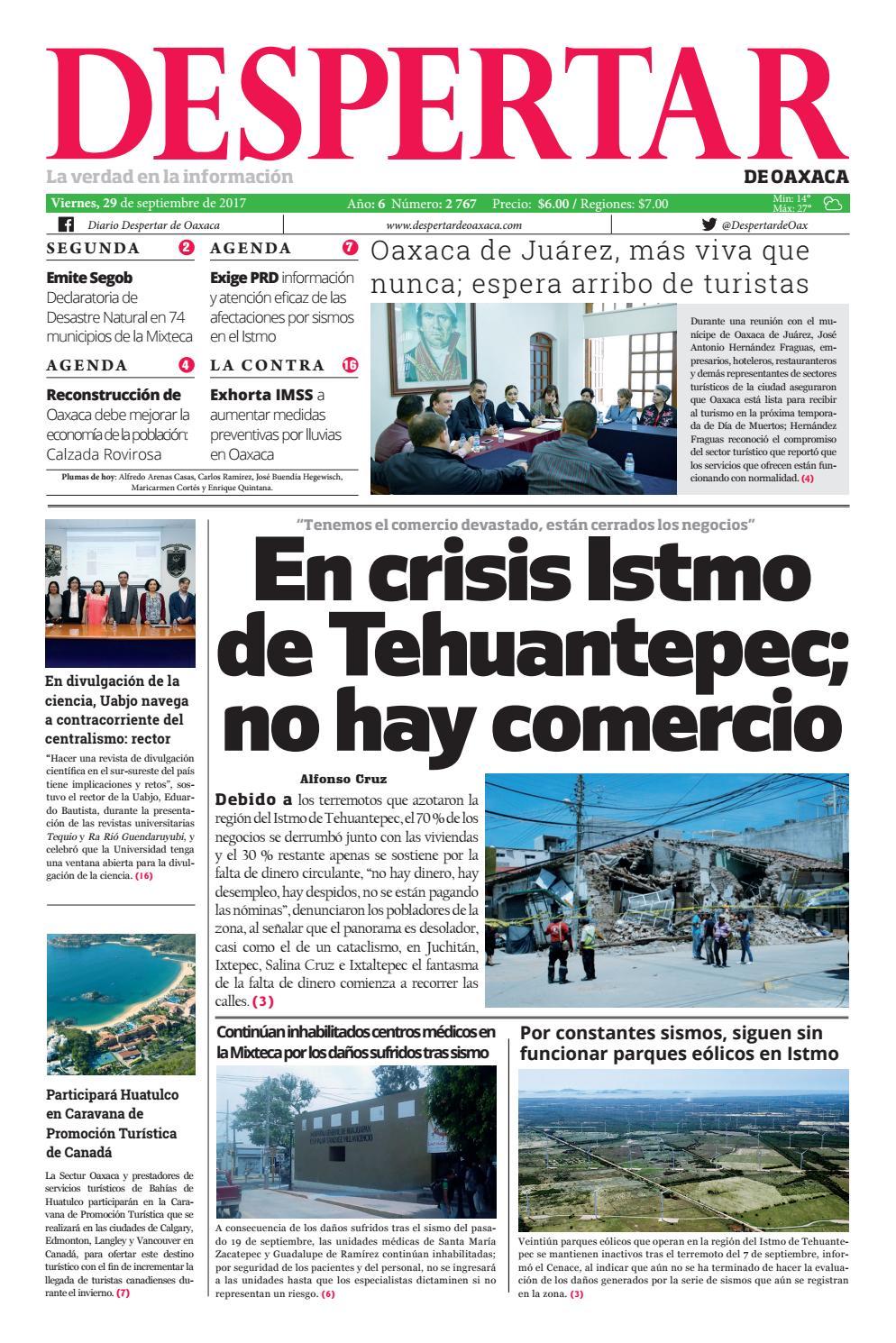 Despertar 29 de septiembre 2017 by Despertar de Oaxaca - issuu