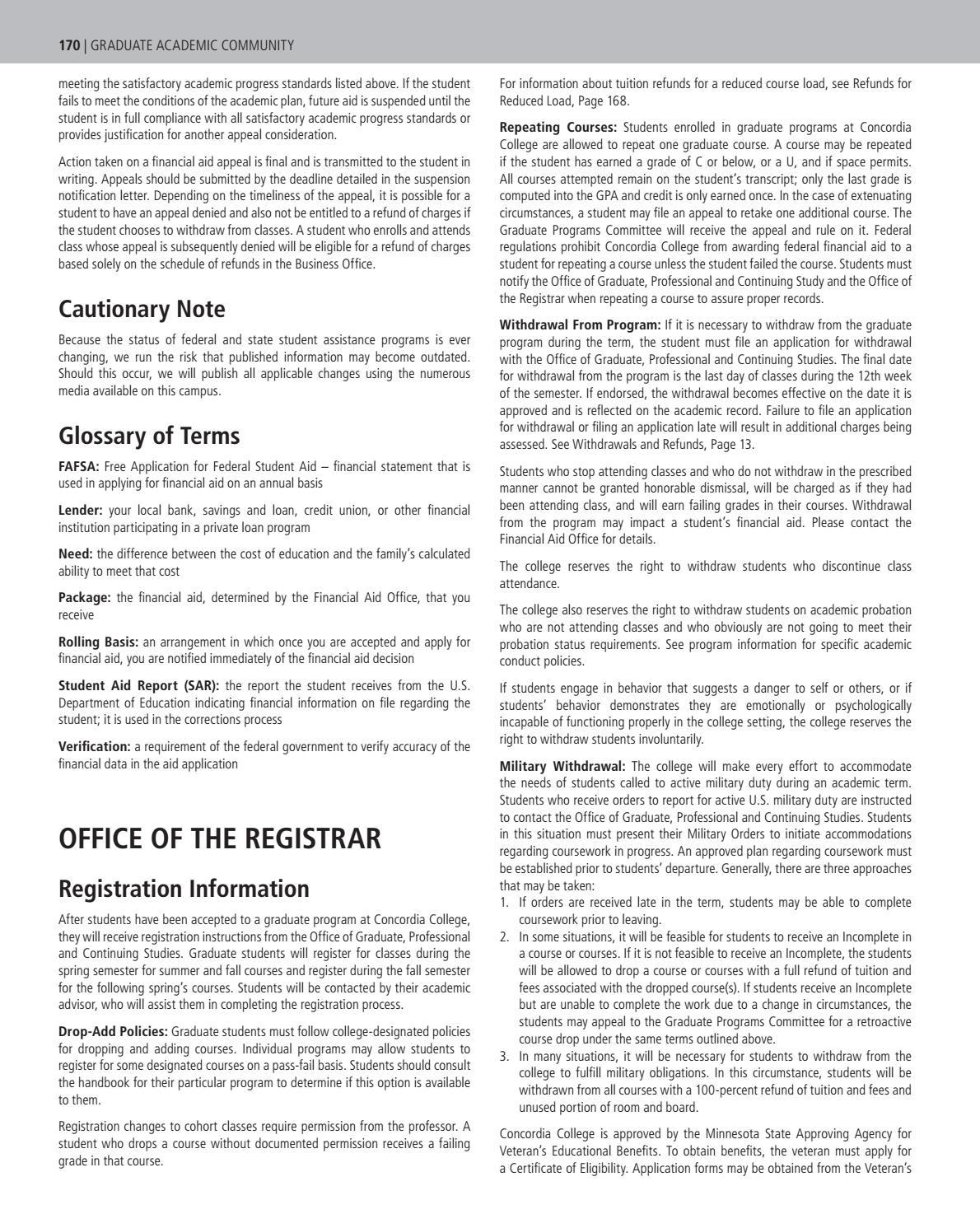 Academic Catalog 2017 18 By Concordia College