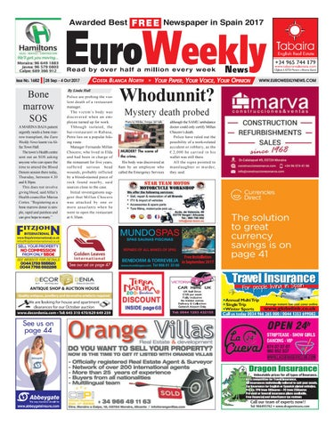 5d36371055df Euro Weekly News - Costa Blanca North 28 September – 04 October 2017 Issue  1682