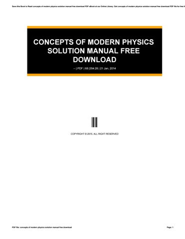 Physics modern concept pdf of