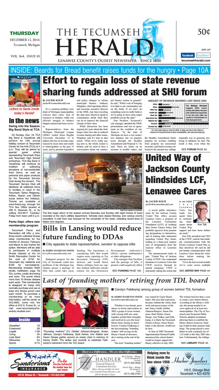 d16db5176ce6 Dec. 15 2016 Tecumseh Herald by Herald Publishing Company