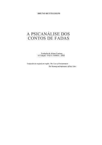 bcb143dbfc A psicanálise dos contos de fadas by Bianca Manfrin - issuu