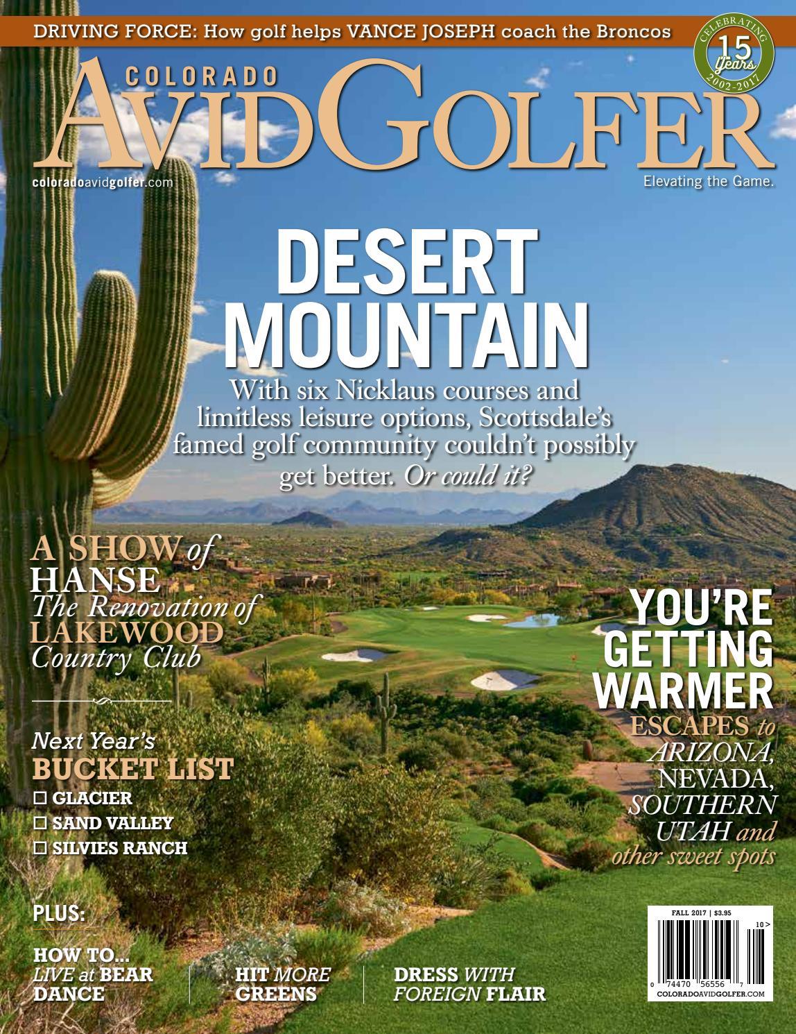 Fall 2017 Colorado AvidGolfer Magazine by Colorado