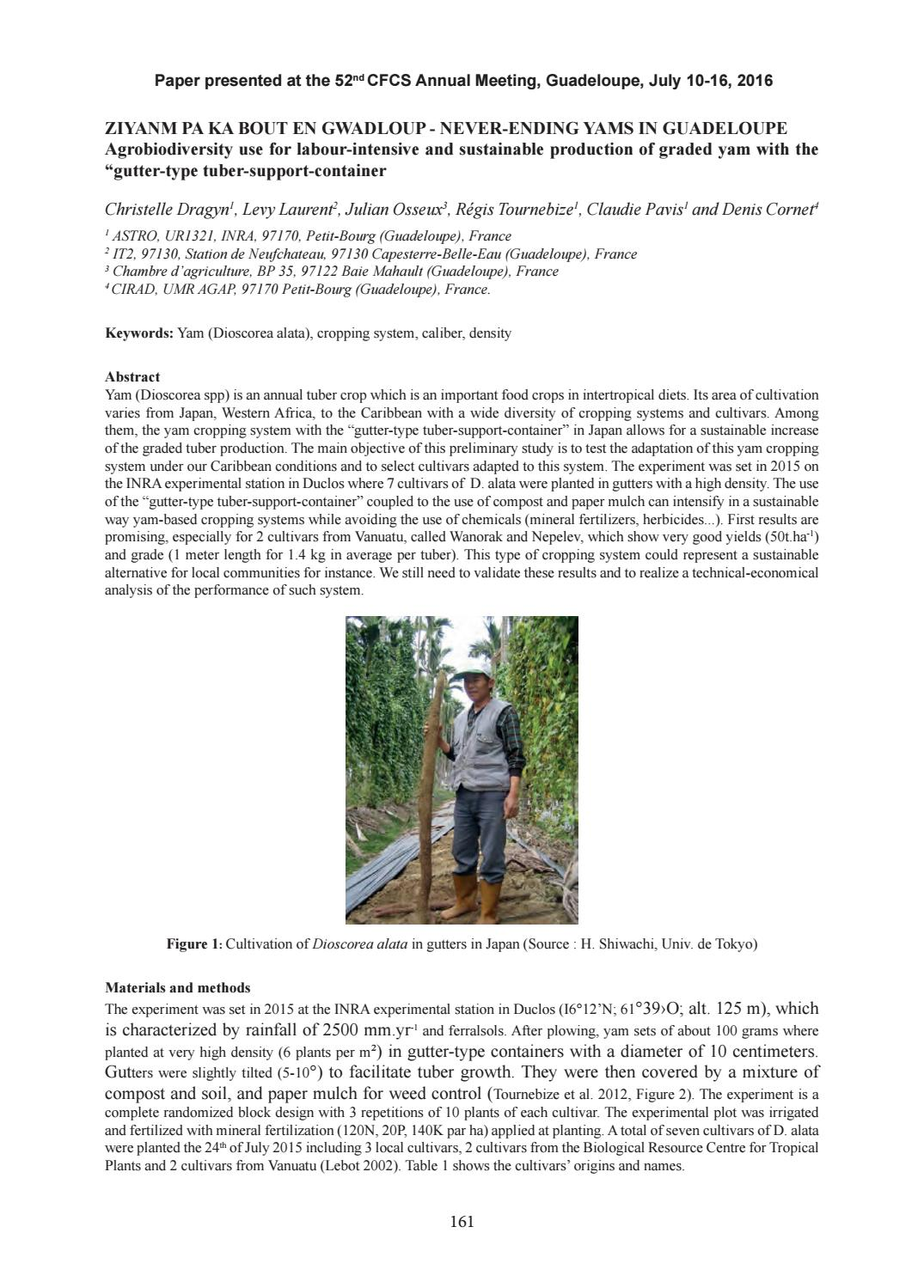 Proceedings of the 52nd annual meeting of the Caribbean Food Crops Society,  july 10 - july 16, 2016