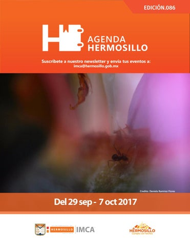"Cover of ""Agenda Hermosillo 29 sep 2017"""