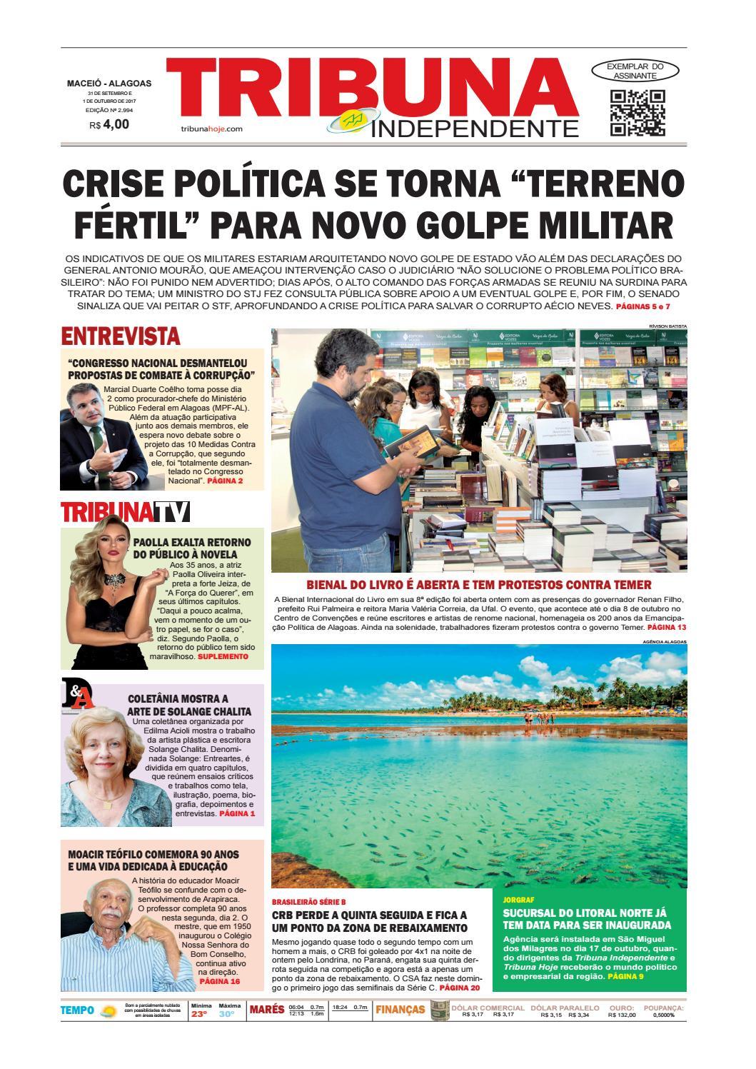 Edição número 2994 - 30 de setembro e 1 de outubro de 2017 by Tribuna Hoje  - issuu 63ffbc0babc