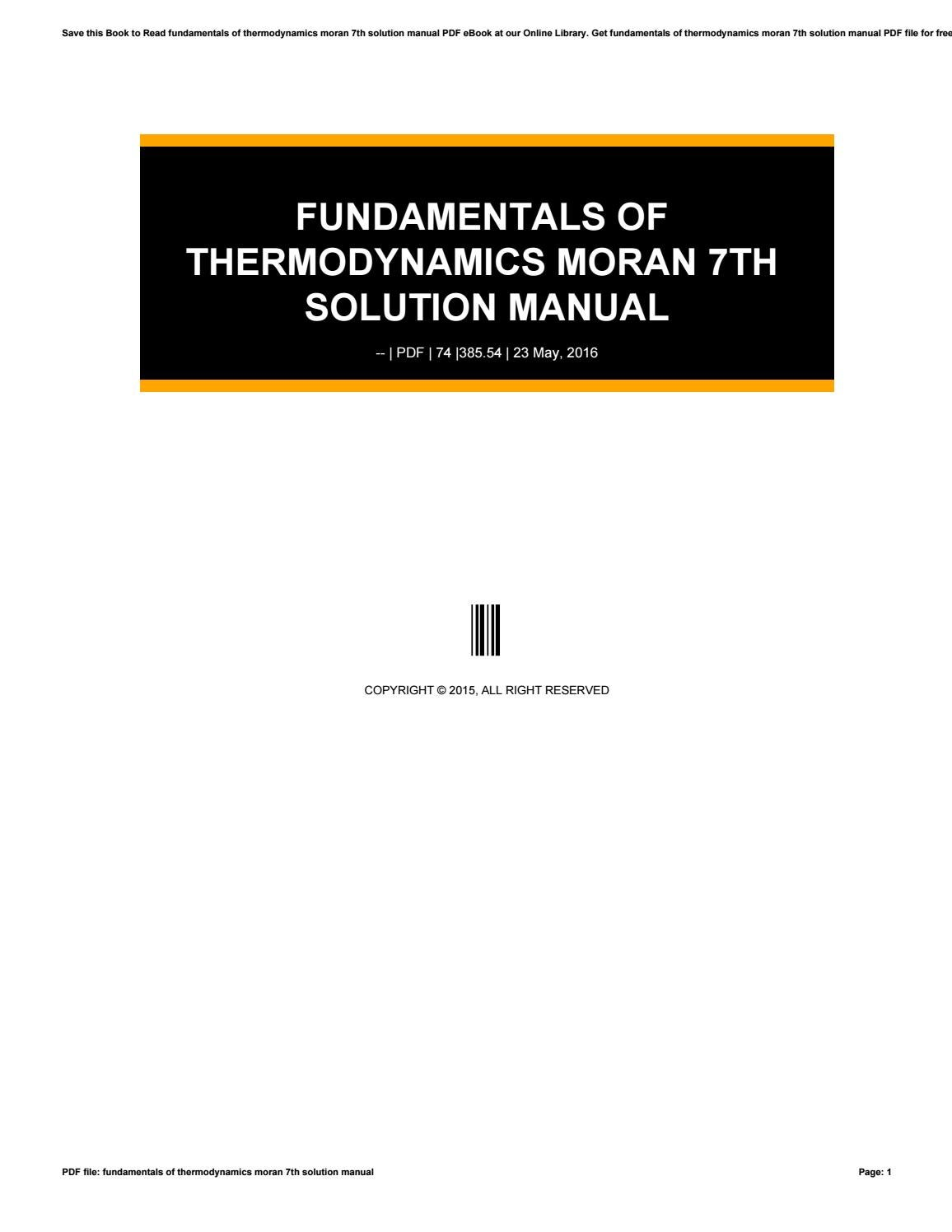 Fundamentals of thermodynamics 7th edition solution manual thermodynamics solution manual 7th edition pdf fundamentals of engineering thermodynamics 7th edition fundamentals of engineering thermodynamics fandeluxe Gallery