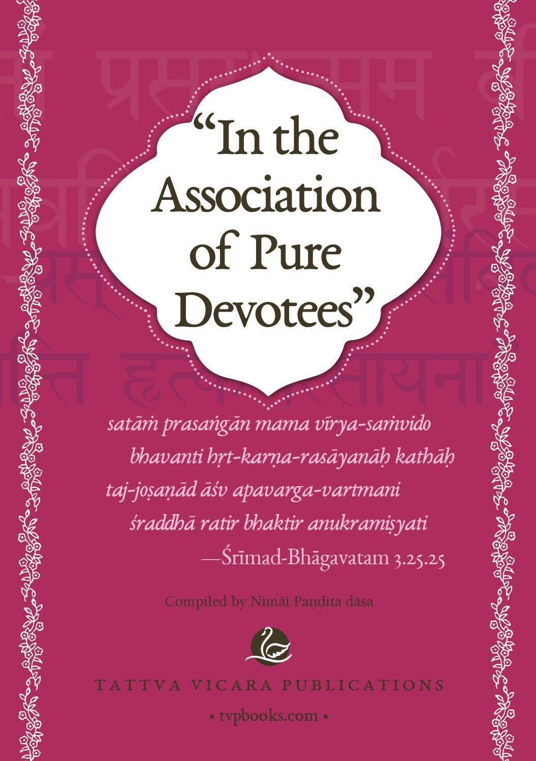 In the Association of Pure Devotees by Tattva Vicara