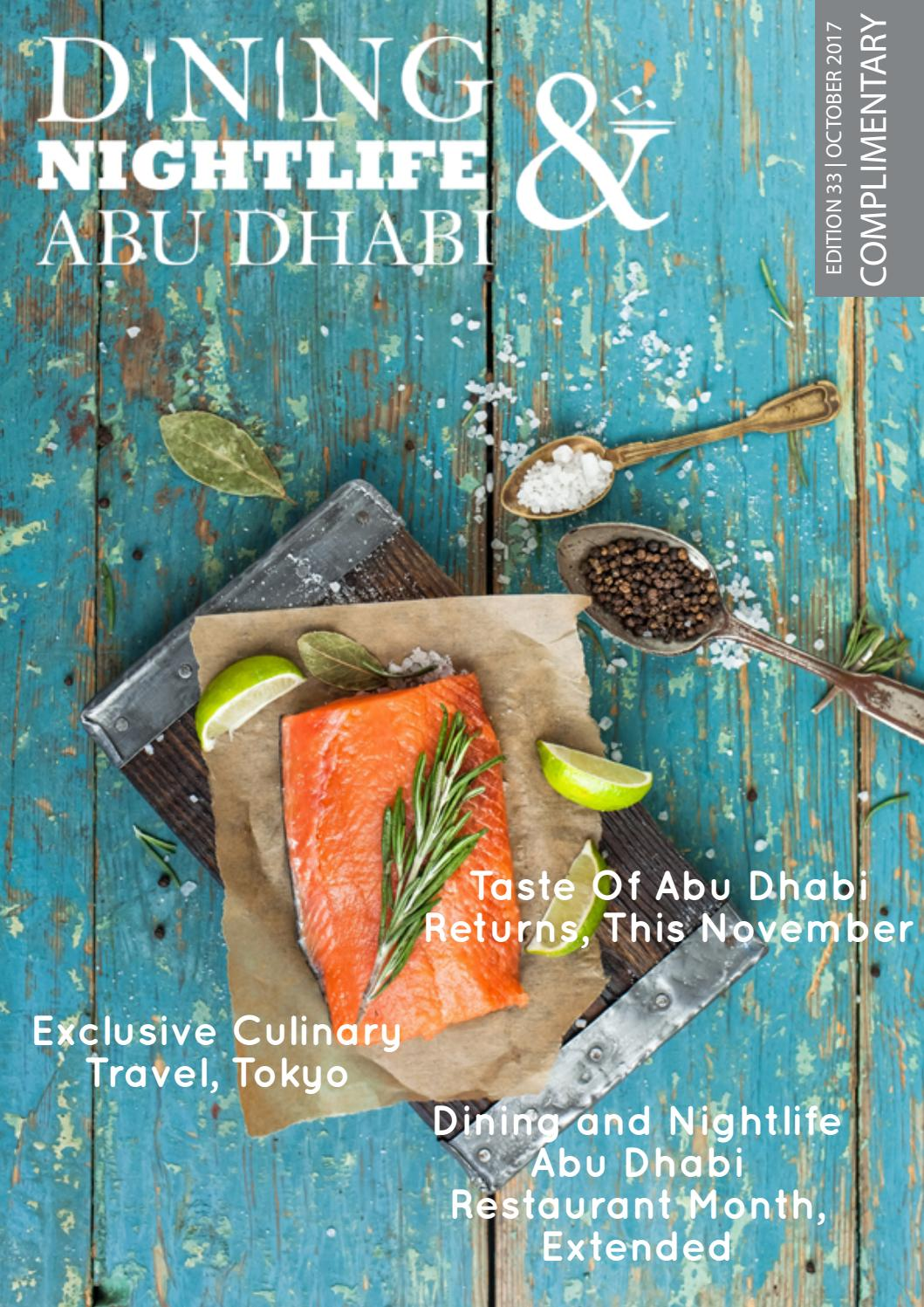 Dining and Nightlife Abu Dhabi Edition 33 October 2017 by Dining and ...