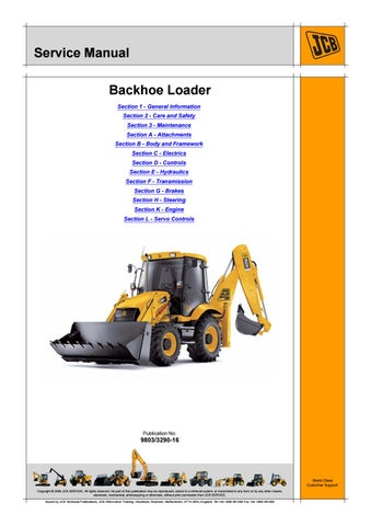 Jcb 3cx backhoe loader service repair manual sn(1327000 to