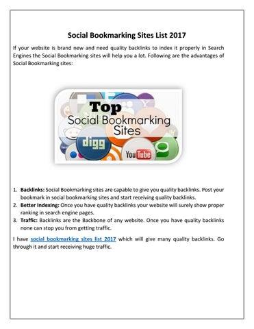 social bookmarking sites list 2017akshay kumar - issuu, Wiring diagram
