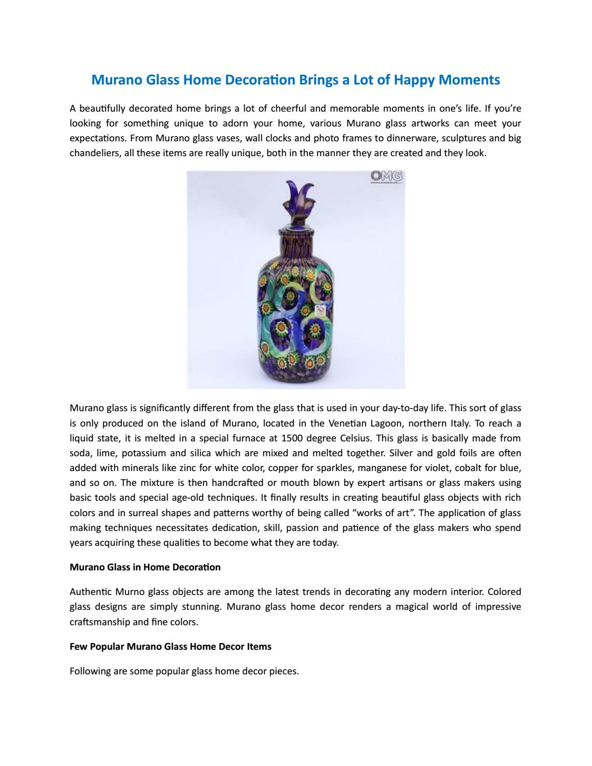 031d1a8e2bb Murano glass home decoration brings a lot of happy moments by Conall  Caddick - issuu