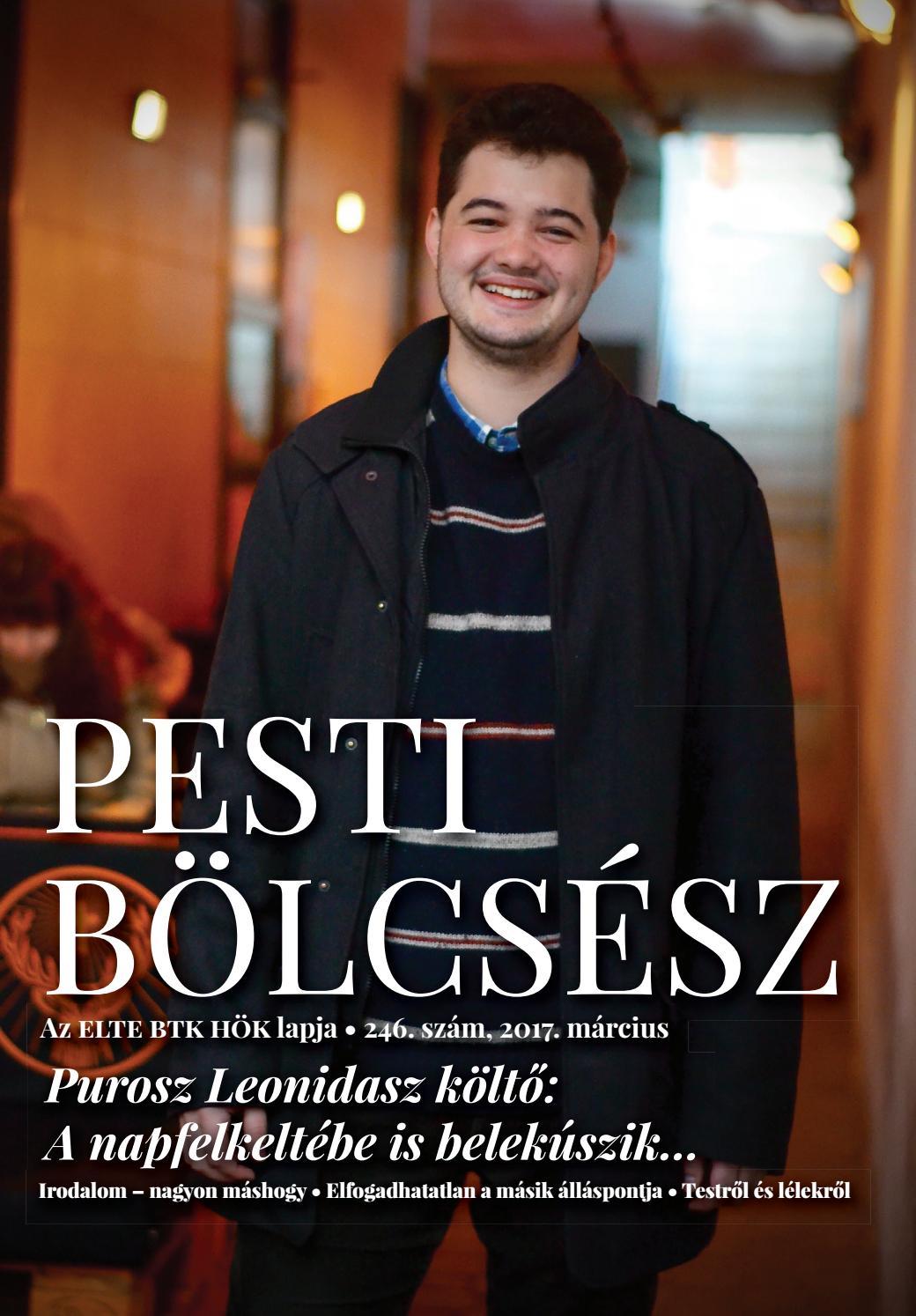 Pesti Bölcsész Újság • 246. szám by Pesti Bölcsész Újság - issuu c51d280354