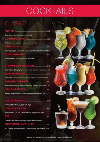 Damons - Cocktail Menu by PaulStafford - Issuu