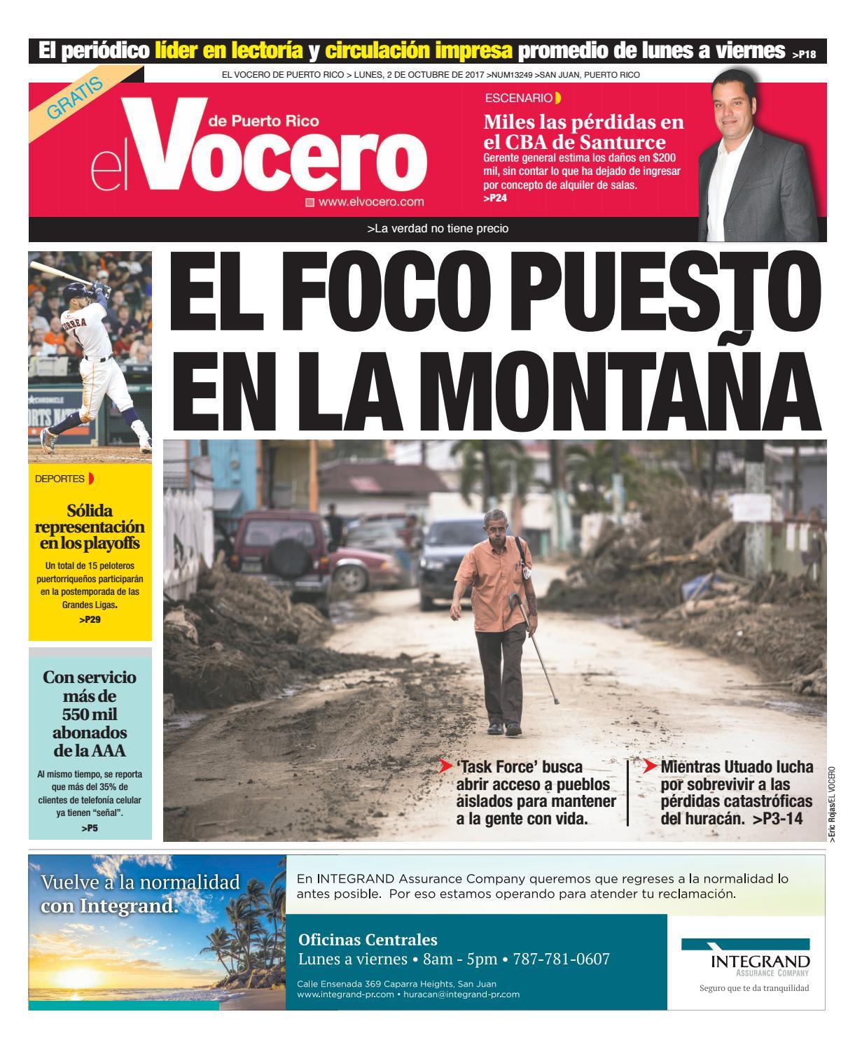14de45aeb Edición del 2 de octubre de 2017 by El Vocero de Puerto Rico - issuu