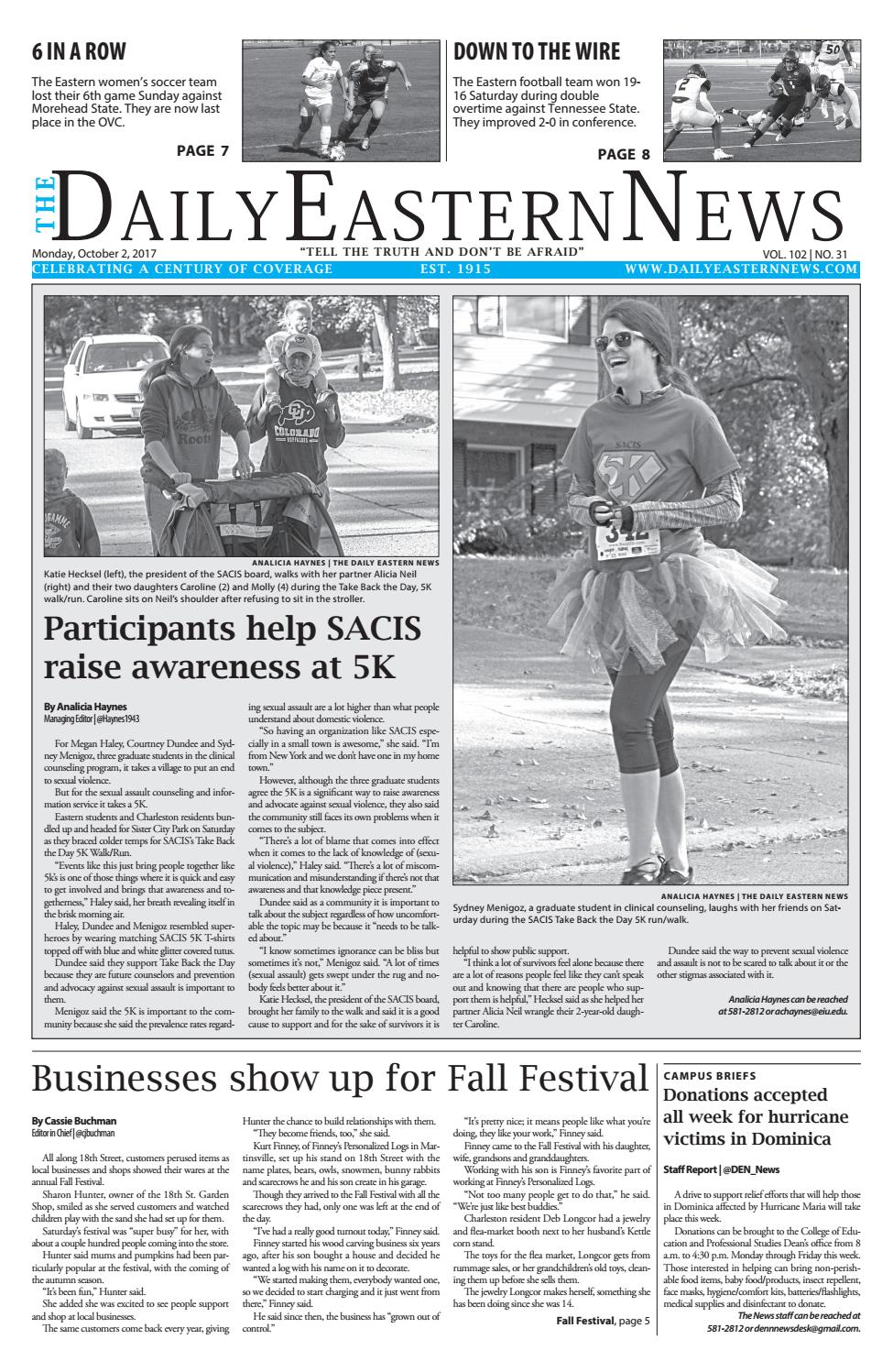 2017.10.02 by The Daily Eastern News - issuu
