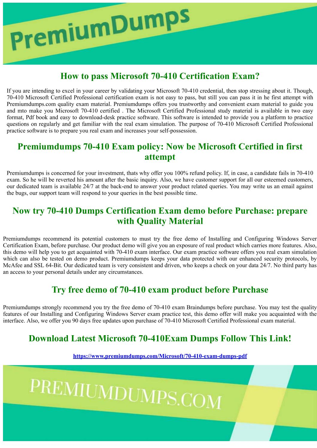 70 410 Microsoft Certified Professional Exam Questions By