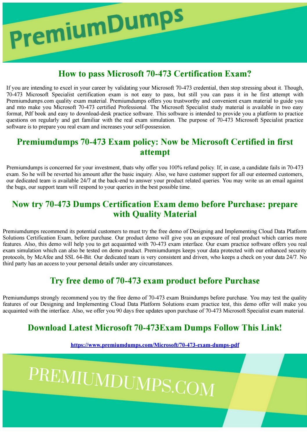 70 473 Microsoft Specialist Exam Questions By Geraldbeahm Issuu