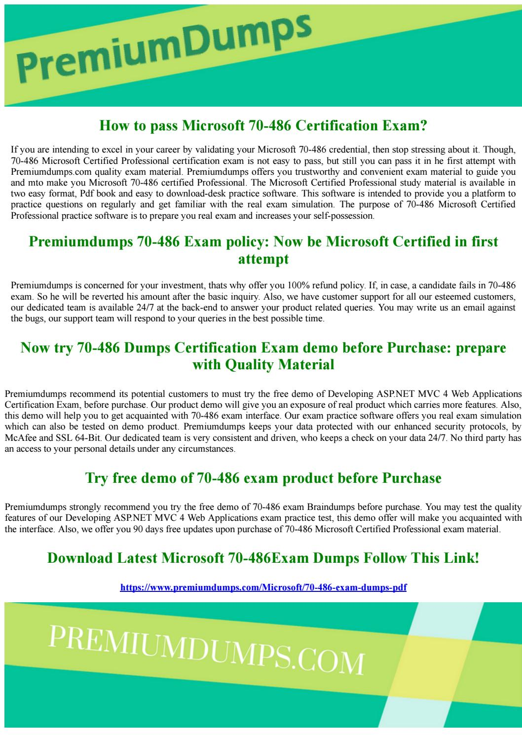 70 486 Microsoft Certified Professional Exam Questions By