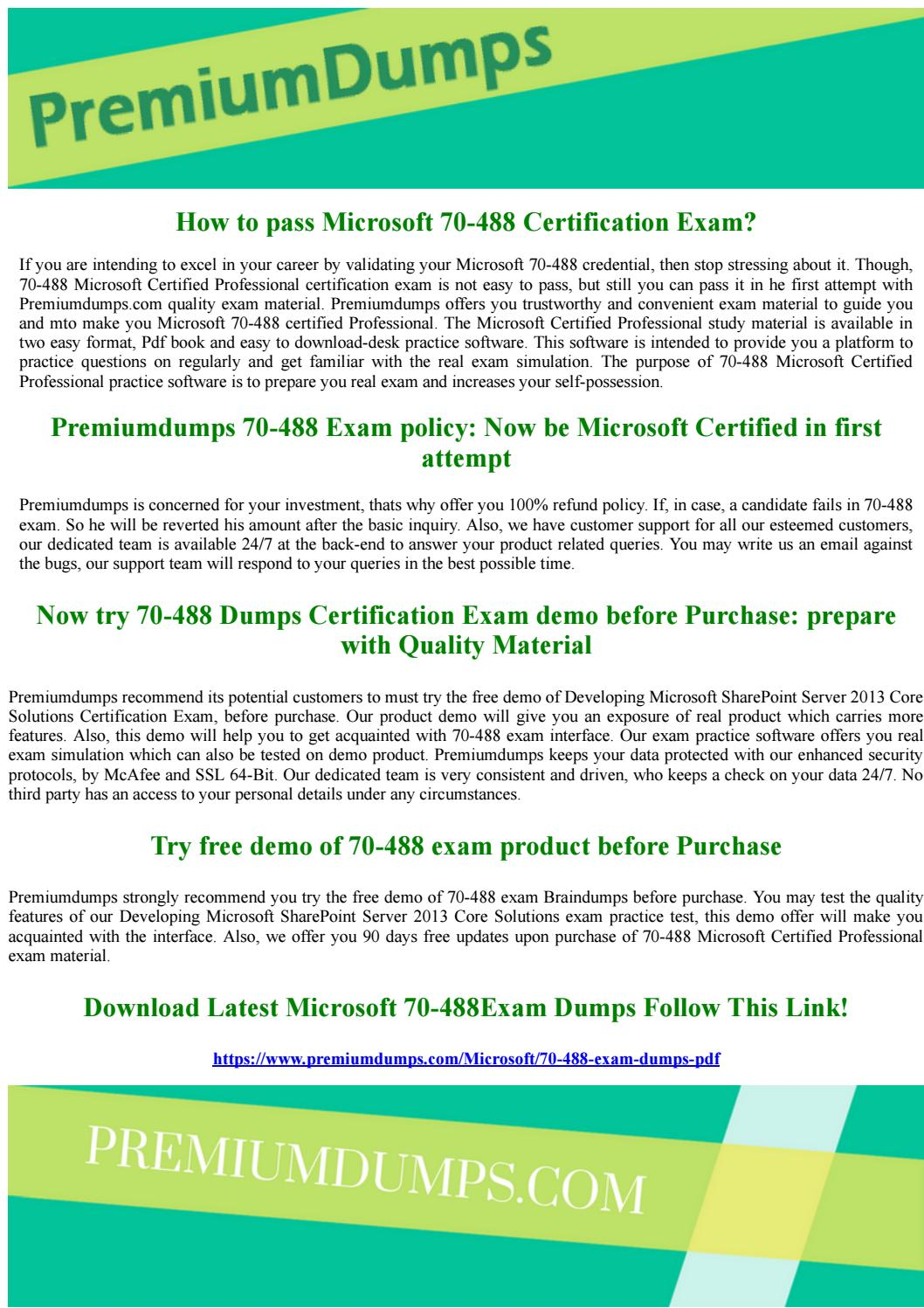70 488 Microsoft Certified Professional Latest Exam Questions By