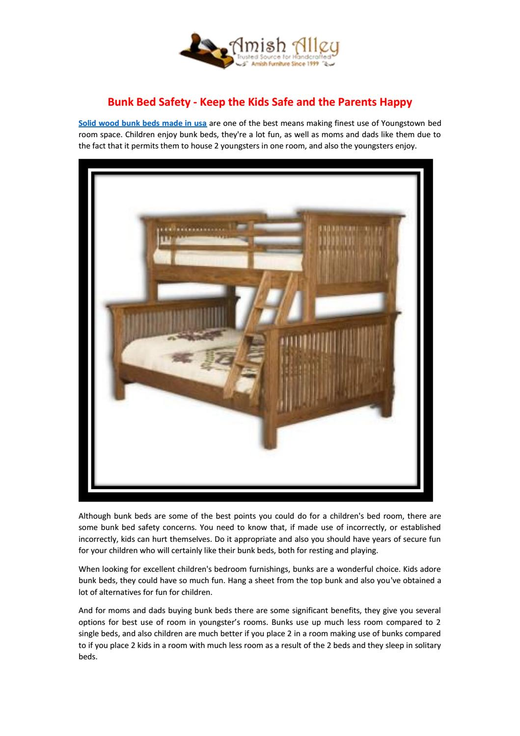 Picture of: Bunk Bed Safety Keep The Kids Safe And The Parents Happy By Amish Alley Issuu