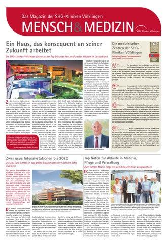 Mensch & Medizin - Das Magazin der SHG-Kliniken Völklingen by ...