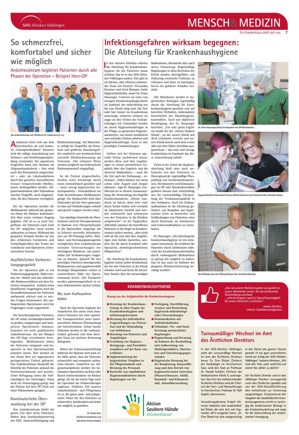 mensch medizin das magazin der shg kliniken vlklingen by saarbrcker verlagsservice gmbh issuu - Pflegestandards Beispiele