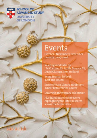 Sas Events Brochure October 17 January 2018 By School Of Advanced