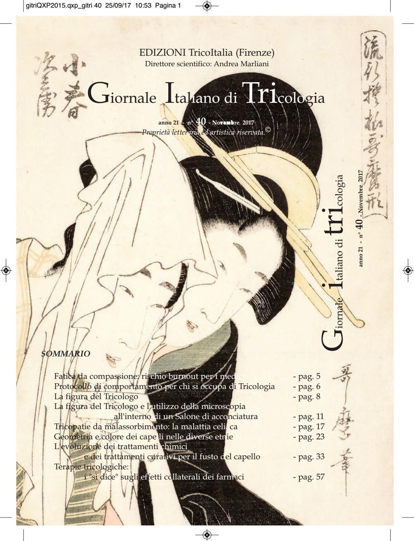 Giornale Italiano di Tricologia n° 40 by Società Italiana di Tricologia -  issuu 6cd59979a035