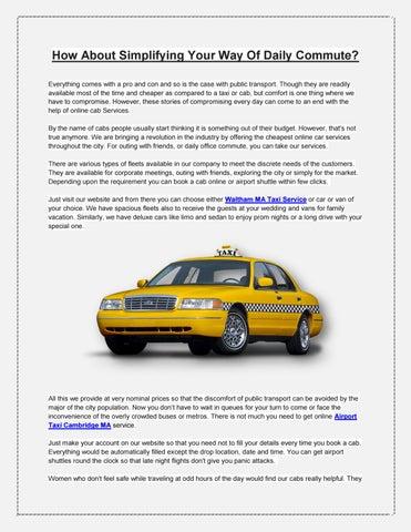 Waltham MA Taxi Service | Airport Taxi Cambridge MA | Airport Taxi  Burlington MA