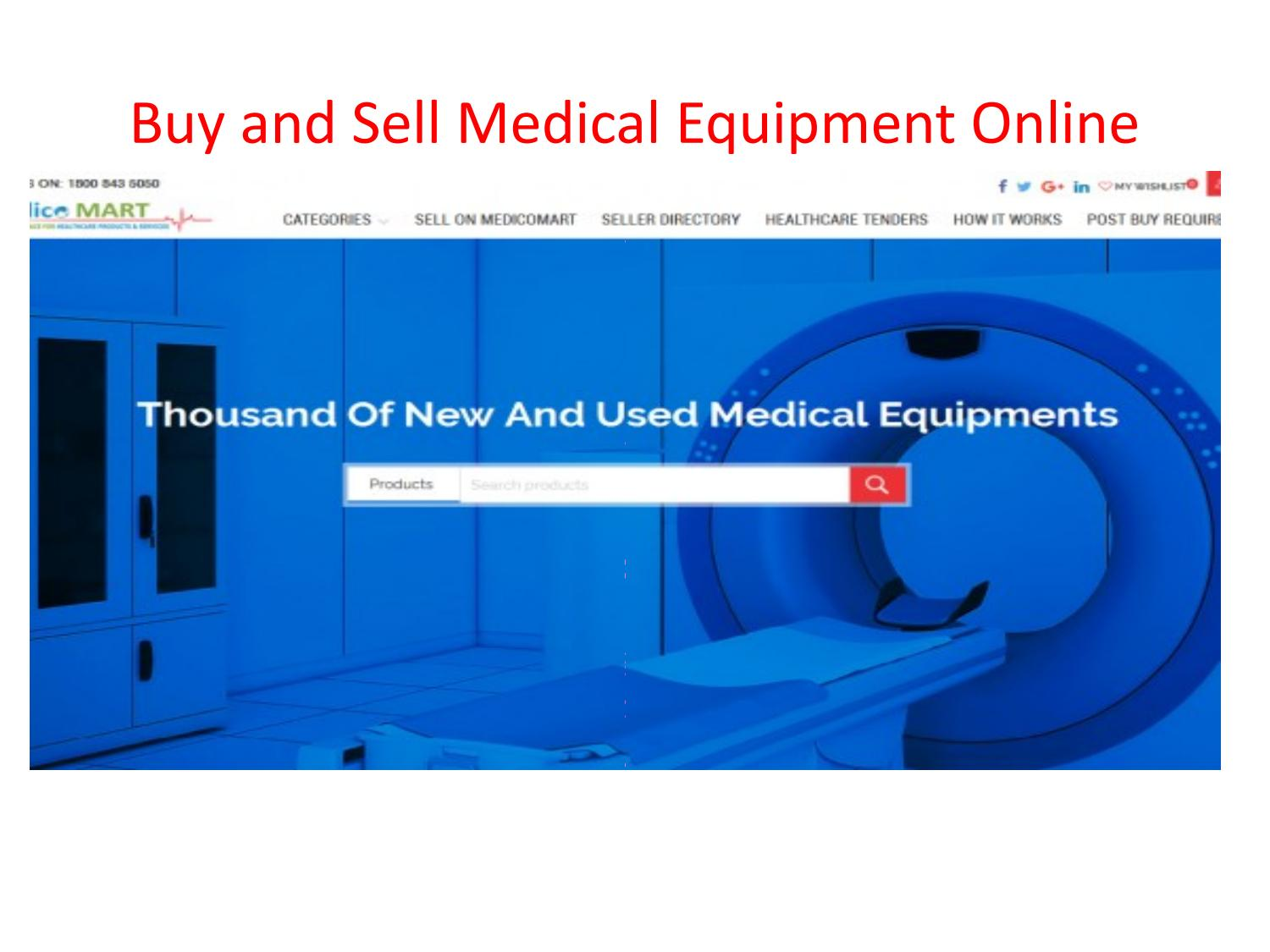 Buy and sell medical equipment online productes by