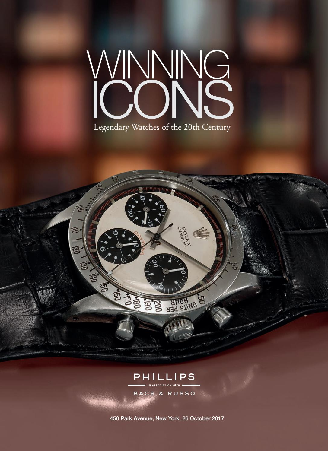 WINNING ICONS – Legendary Watches of the 20th Century [Catalogue] by  PHILLIPS - issuu